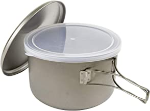 Snow Peak Titanium Cook Save Pot, Japanese Titanium, Ultralight and Compact for Camping, Made in Japan, Lifetime Product G...