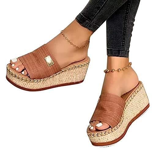 Zapatos de Verano Sandalias de Verano Sandalias Mujer Cuña Zapatillas de Estar...