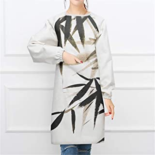 YXDZ Chinese Style Cloth Home Fashion Simple Apron Long Sleeve Anti-Dressing Kitchen Baking Gown Cooking Adult Chinese Style 23