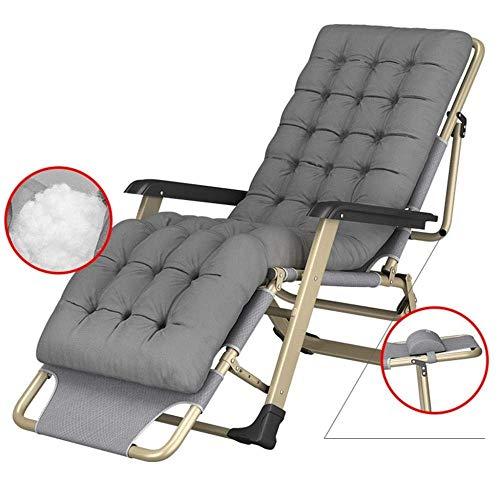 WJJJ Schwerelosigkeit Stühle Tragbarer Strandkorb mit Outdoor-Campingkissen für Outdoor-Camping (Farbe: grau)