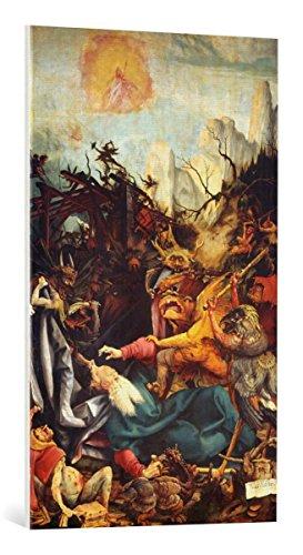 kunst für alle Leinwandbild: Mathis Gothart Grünewald Die Versuchung des Heiligen Antonius - hochwertiger Druck, Leinwand auf Keilrahmen, Bild fertig zum Aufhängen, 60x100 cm