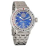 Vostok Amphibian 420374 genuino reloj militar de buceo ruso 2416B/2415 200m auto cuerda reloj de pulsera