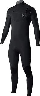 Rip Curl Dawn Patrol Chest Zip 4/3 Wetsuit, Black, Large