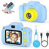 vatenick Camara Fotos Infantil Juguete para Nios Cmara Digital para Nios pequeos 2 Inch HD Pantalla with Calidad 32GB TF Tarjeta Regalos Juguete para 3 a 12 aos Nios y nias (azui)