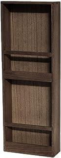 Nai-storage De Pared CD de Soporte de exhibición, Cafetería Sala de Cine de Madera Doble DVD Frame - Periódico de Gran Capacidad estantería (Color : Wood, Size : 27 * 10 * 74cm)
