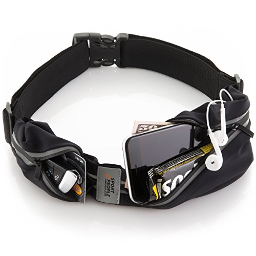 Sport2People Running Pouch Belt, USA Patented, Runner Waist Pack iPhone X 6 7 8 for Men and Women...