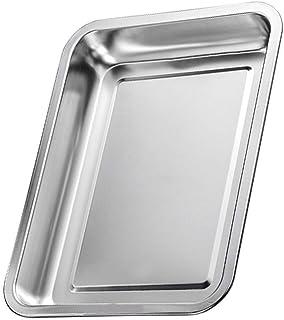 صينية الخبز Bakeware, Stainless Steel Oven Tray Cake Pan Deepen Home Muffin Grilled Fish Cooking Dining Tools (Size : 36×2...
