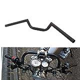 JFG RACING Manillar de motocicleta de 7/8 pulgadas, estilo Cafe Racer Ace Clubman, 22 mm, universal, para aplicación personalizada Bobber, color negro