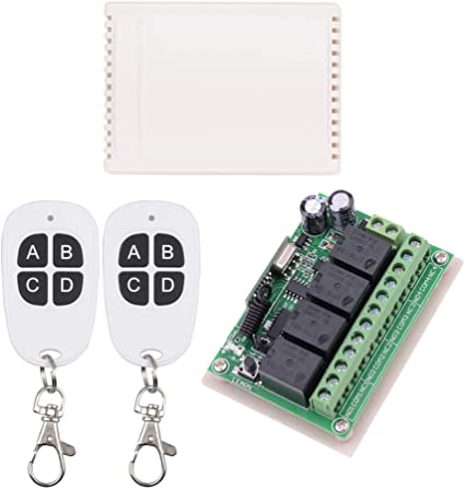 12V RF Wireless Relay Remote Control Switch - 2 Transmitters with 1 Receiver
