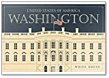 Imán para nevera de estilo retro, diseño de casa blanca de los Estados Unidos, Washington DC