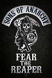 """Sons of Anarchy Pster de Pyramid International, con inscripcin en ingls Fear The Reaper"""", Blanco y Negro, 61cm x 91,5cm x 1,3cm"""