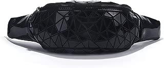 Women Geometric Luminous Waist Bag Fanny Pack Sport Outdoor Travel Chest Bag Purse