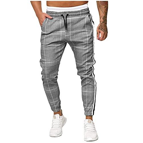 Pantaloni da Jogging Uomo, Lungo Pantaloni Cargo con Coulisse Tasche Laterali, Pantalone Sportivo da Lavoro con Pantaloni Activewear Pants Casual Sport Trousers