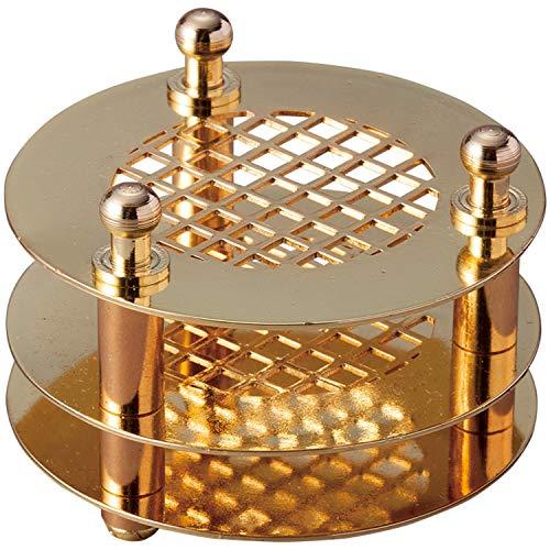 コモライフ 灰いらずの線香立て 線香差し 仏壇 香炉 倒れにくい 燃えカス 残りにくい 仏具 掃除 楽 便利 ゴールド 約径5×3.5cm