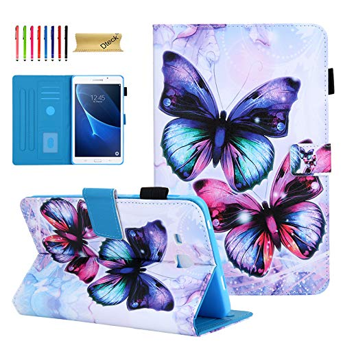 Galaxy Tab A 7.0 inch Case, SM-T280 Case, Dteck Leather Folio Stand Protective Case for Samsung Galaxy Tab A 7.0 Tablet (2016 Release) SM-T280/T285, Color Butterfly
