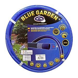 "S&M 553103 Manguera de jardinería Reforzada Blue Garden, Azul, Rollo 15 Metros- 19 x 25 mm- (3/4"")"