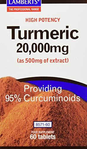 Lamberts High Potency Turmeric 20000mg 60 Tablets