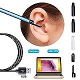 Otoscopio Camara HD Digital Led otoscopio, oído cámara Alcance del oído del endoscopio de cerumen del oído kit de eliminación de herramienta de la limpieza de la cera del oído Visual Escoja la herrami