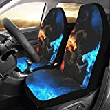 Artsadd Blue Vs Red Dragon Car Seat Covers (Set of 2) Best Automobile Seats Protector
