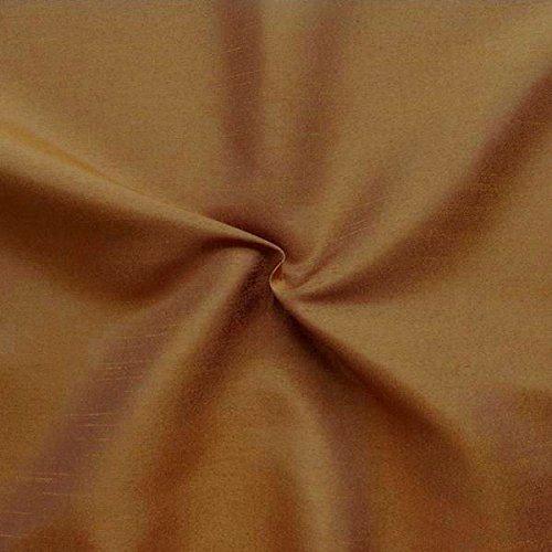 Unbekannt Kleidertaft Dekotaft Dupionseide Optik Meterware Kupfer-Braun