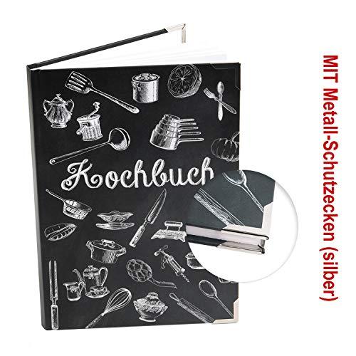 Logbuch-Verlag kleines DIY Kochbuch zum Selberschreiben DIN A5 - leeres Rezeptbuch als Alternative zum Rezeptordner Blankobuch Geschenk Küche