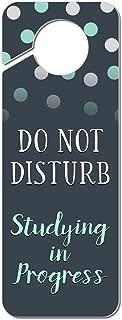 Graphics and More Do Not Disturb Studying in Progress Plastic Door Knob Hanger Sign