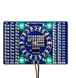 COVVY LED rotante SMD NE555 Scheda pratica di saldatura Kit fai da te Fanny Abilità Formazione Kit fai da te Scheda elettronica PCB Modulo Tuta