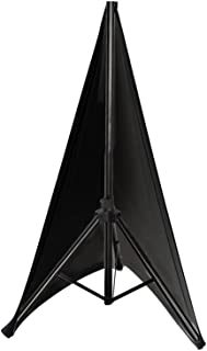 """Pyle Universal Lighting Tripod Stand Scrim - Double Sided DJ Speaker / Light Stand Skirt Cover w/ Velcro Straps, Bag, Made from Stretchable Lycra Spandex, Fit Stands Up to 75"""" x 43"""" - PSCRIM2B (Black)"""