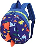 LESNIC Toddler Kids <span class='highlight'>Backpack</span> Rucksack for Boys/Girl, Dinosaur Rucksack Toddler, Cartoon Safety Anti-Lost Strap Rucksack with <span class='highlight'>Reins</span> Kids Bag 27 * 19 * 11cm / 10.62 * 7.28 * 4.33inch