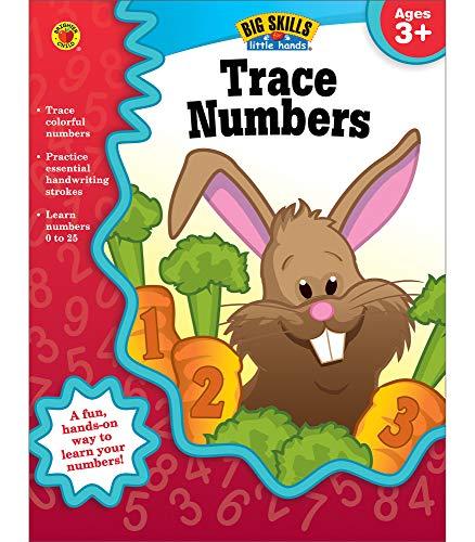 Carson Dellosa Trace Numbers Workbook for Preschool-Kindergarten—Number Tracing Practice Book  Ages 3-5  PreK-Kindergarten  Homeschool  Daycare (32 pgs) (Big Skills for Little Hands®)