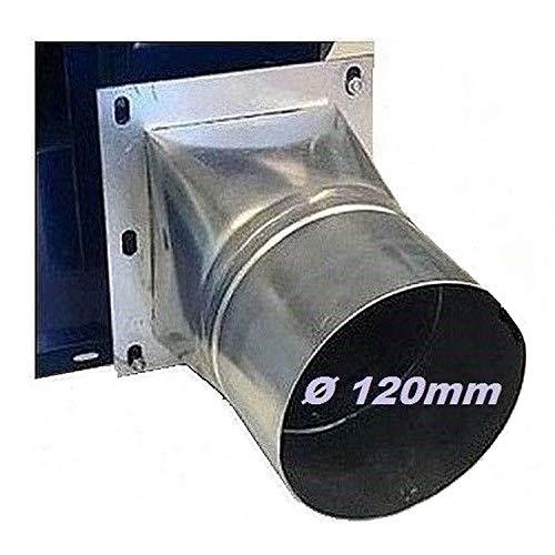 Adattatore tubo connettore, 4 angoli, rotondo, flangia 120 mm di diametro, per ventilatore radiale