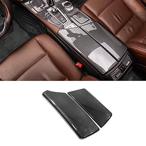 N\A for BMW 5 Series F10 2011-2016 ABS Carbon Fiber Color Car Interior Center Armrest Box Covers Console Box Storage Box Trim Cover