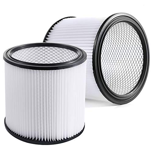 Aiskaer Replacement Cartridge Filter 2-Pack Compatible with Shop-Vac 90350 90304 90333 Replacement fits most Wet/Dry Vacuum Cleaners 5 Gallon and above