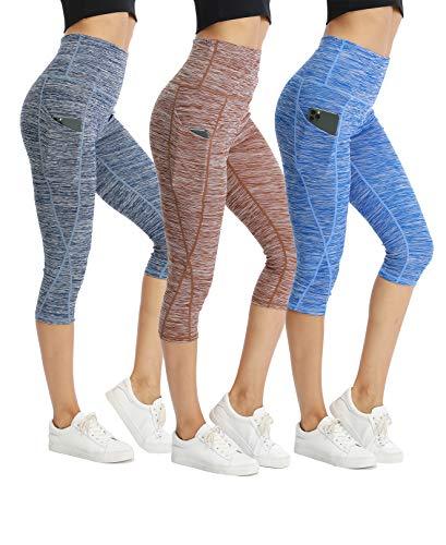 CongYee Sport Women's Yoga Capris Tummy Control Yoga Pants for Women with Pockets High Waisted Yoga Capri Leggings qingkafeilan XL