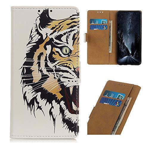 BeyondTop Brieftasche Schutzhülle für LG Harmony 4 Leder, Brieftasche Handyhülle mit Kreditkarte Slot und Magnetisch Schnalle Flip Hülle für LG Harmony 4-LH