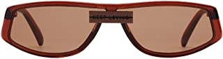 Square Sunglasses Retro Unisex Funky Sunglasses (Color : Brown)