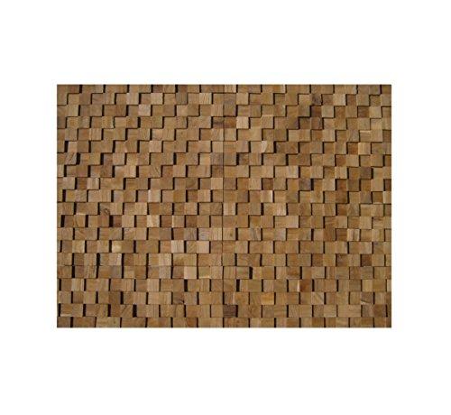 HO-M-004 - 1 Muster Fliese Teak-Holz Mosaikfliesen Wand-Verblender Stein-Mosaik Fliesen Lager Verkauf Herne NRW
