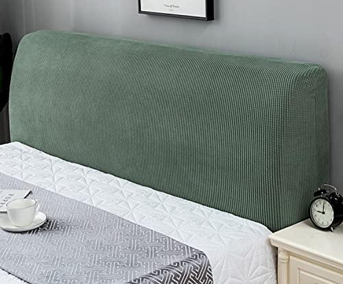 GuLL Protector de cabecero de cama de tela antipolvo para la decoración de la cama (verde ciprés, 150 cm)