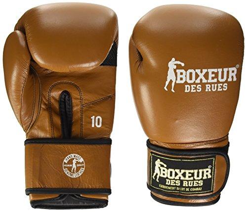 BOXEUR DES RUES Fight Sportbekleidung Klassische Boxhandschuhe, Herren, Fight Activewear, braun