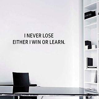 70 cm * 13,6 cm «je ne perds jamais» la motivation accueil maison décalé succès bureau bureau décor autocollant de mur en PVC