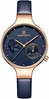 Naviforce Casual Watch For Women Analog Genuine Leather - NF5001