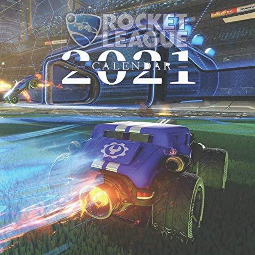 Calendar 2021: Rocket League Calendar 2021 16 months 8.5 x 8.5 inch finished & glossy