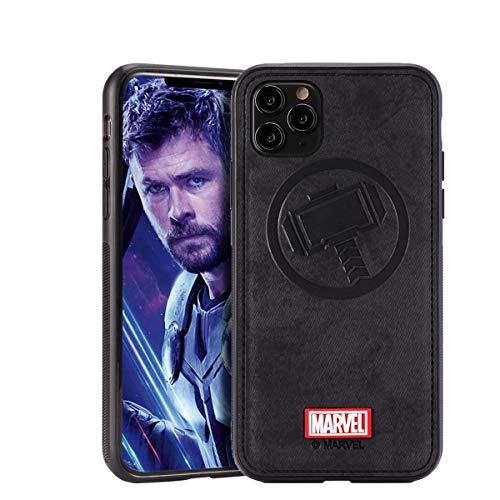 NARYM Schutzhülle mit Avengers-Figur, kompatibel mit iPhone 12 und iPhone 12 Pro 6,1 Zoll, Thor, Schwarz