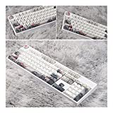 SLFDXDP keycaps Tinta de sublimación de colorante de 5 Caras KeyCap mecánico Teclado keycap (Color