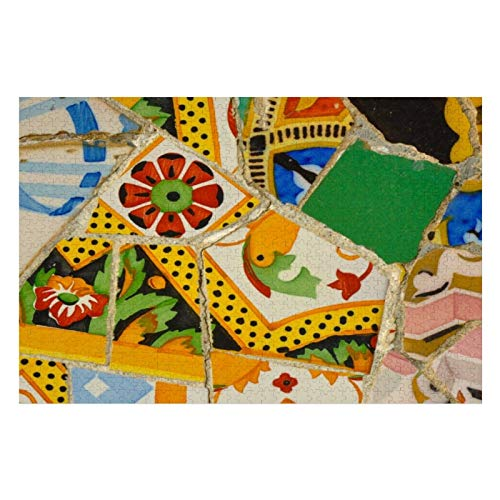 Azulejos de Parc Güell en Barcelona, España, puzles para adultos, 300 piezas, rompecabezas para niños, regalo para niños y niñas, 10 pulgadas x 15 pulgadas