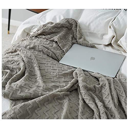 Nordic gebreide dekens, dekens voor slaapbanken, handdoeken, bed & breakfast dekens-127x220CM_Helder groen