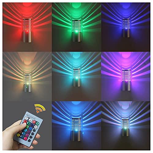 Applique Da Parete A LED 3W, Moderna Lampada Cilindrica in Alluminio A LED RGB Lampada Da Parete Su Giù Per Corridoio, Giardino Di Casa, KTV, Teatro, Studio Decorativo