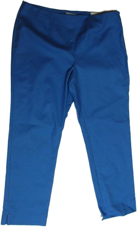 Charter Club Women's Pants 12 Summer Splash bluee