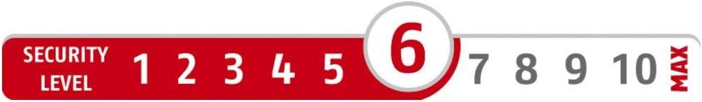 wei/ß Sicherheitslevel 6-89642 ABUS Fenster-Zusatzsicherung 2420 AL0125 Sicherheitsschloss mit Schwenkriegel f/ür Doppelfl/ügelfenster gleichschlie/ßend