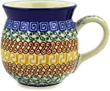 Polish Pottery Bubble Mug 16 oz Grecian Sea